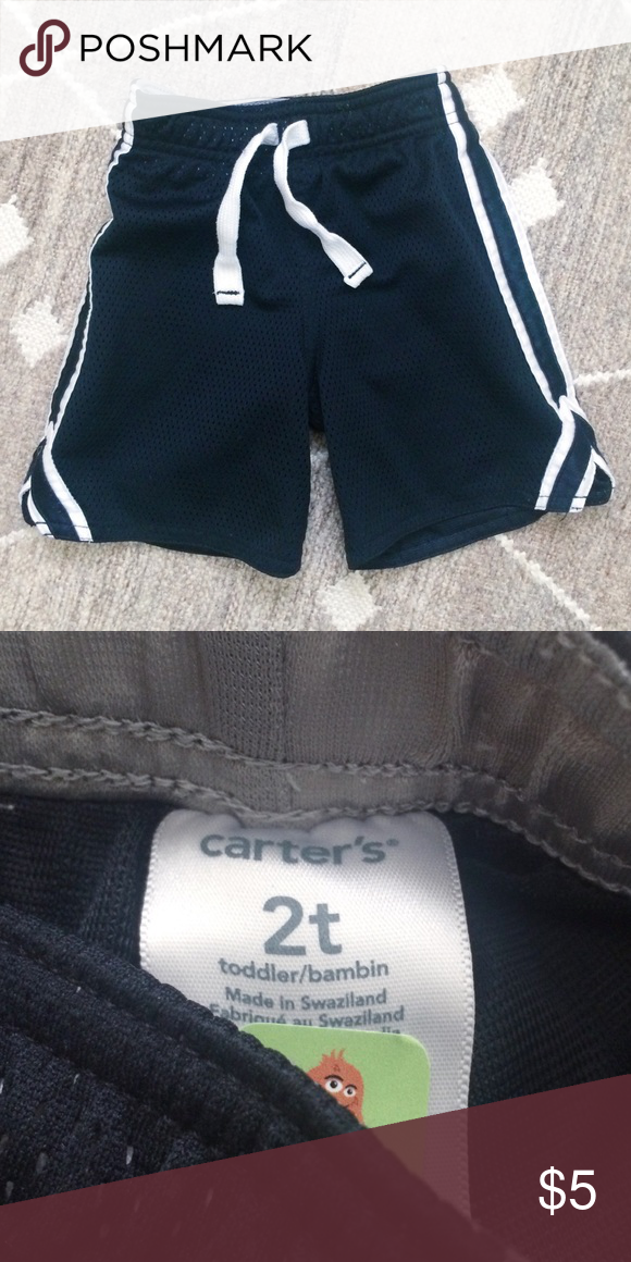 44913b407 ... Gently used condition Carter's toddler athletic shorts in black and  white in size 2T! Good condition with some fading and pilling due to wash  and wear.
