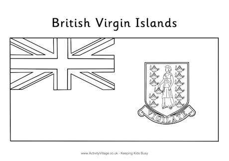 British Virgin Islands Flag Colouring Page British Virgin