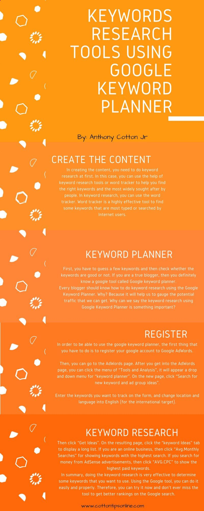 Taking advantage of Keywords Research Tools by using Google Keyword Planner. Having a paid website can be your own pride. However, when you create a website, you should be ready to fill your website with contents.