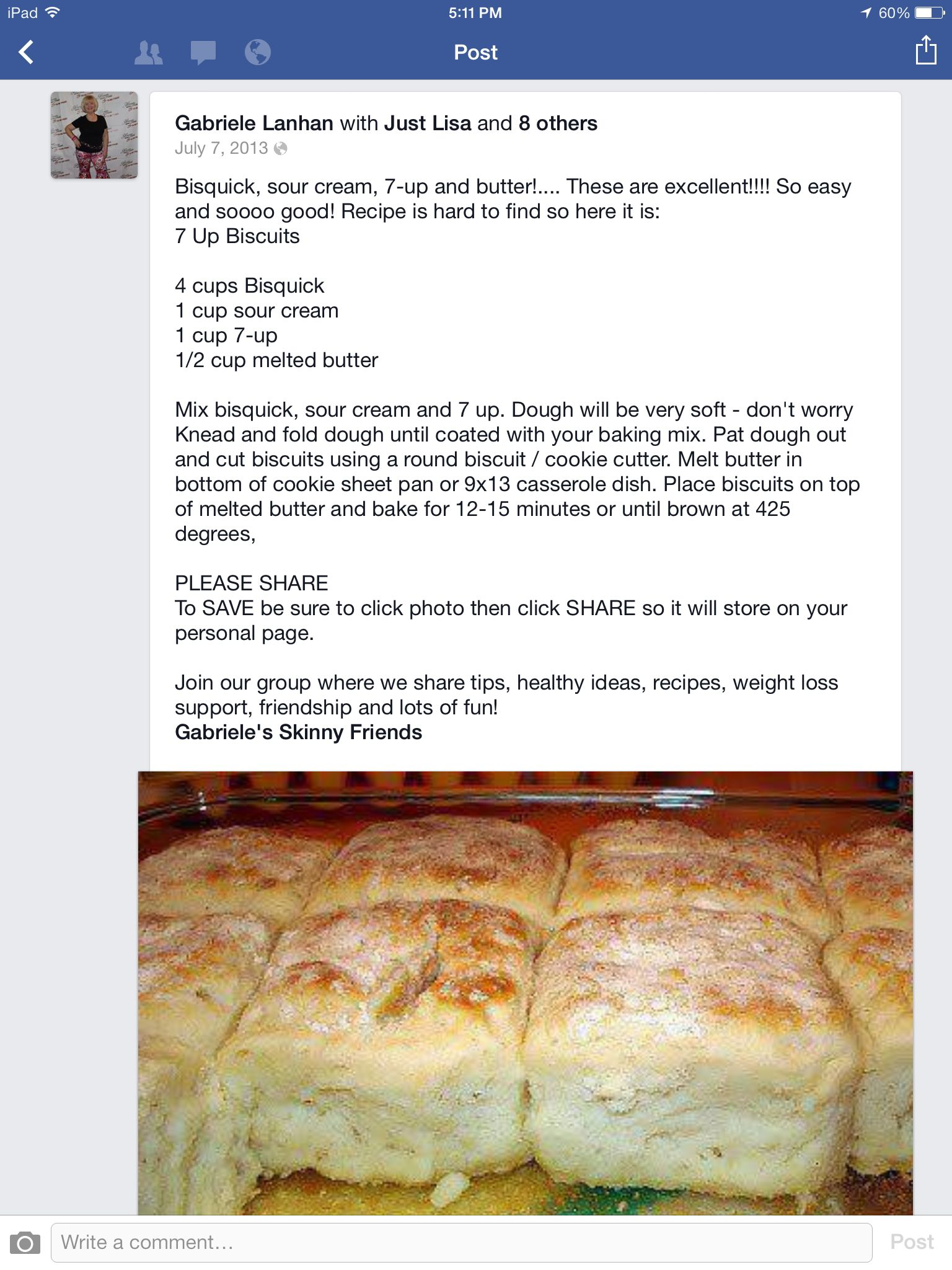 Sour Cream Biscuits I Use This Recipe Only With Pioneer Baking Mix Recipes Food Bisquick