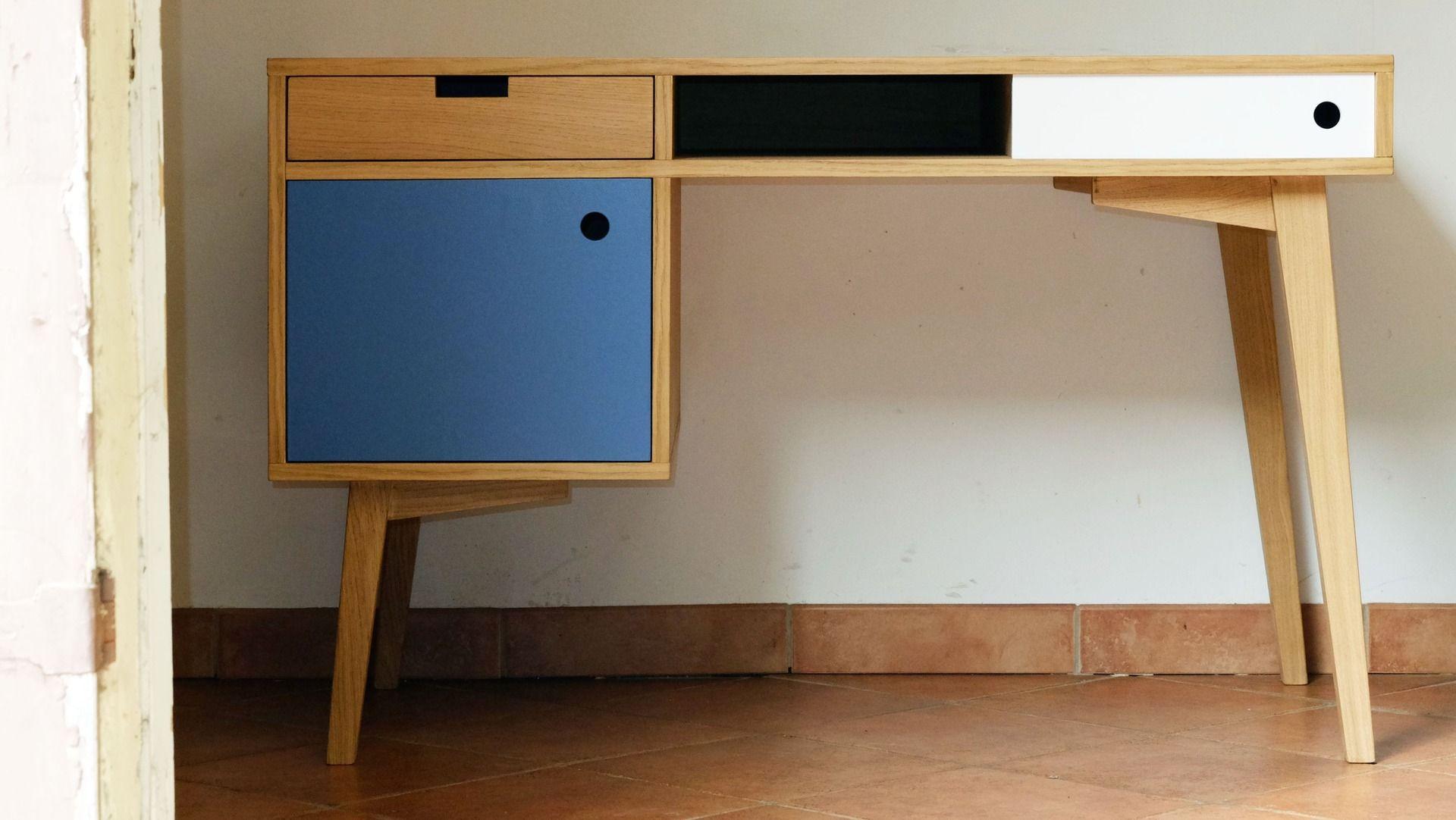 Bureau style scandinave en chne conteneur Havre Pinterest
