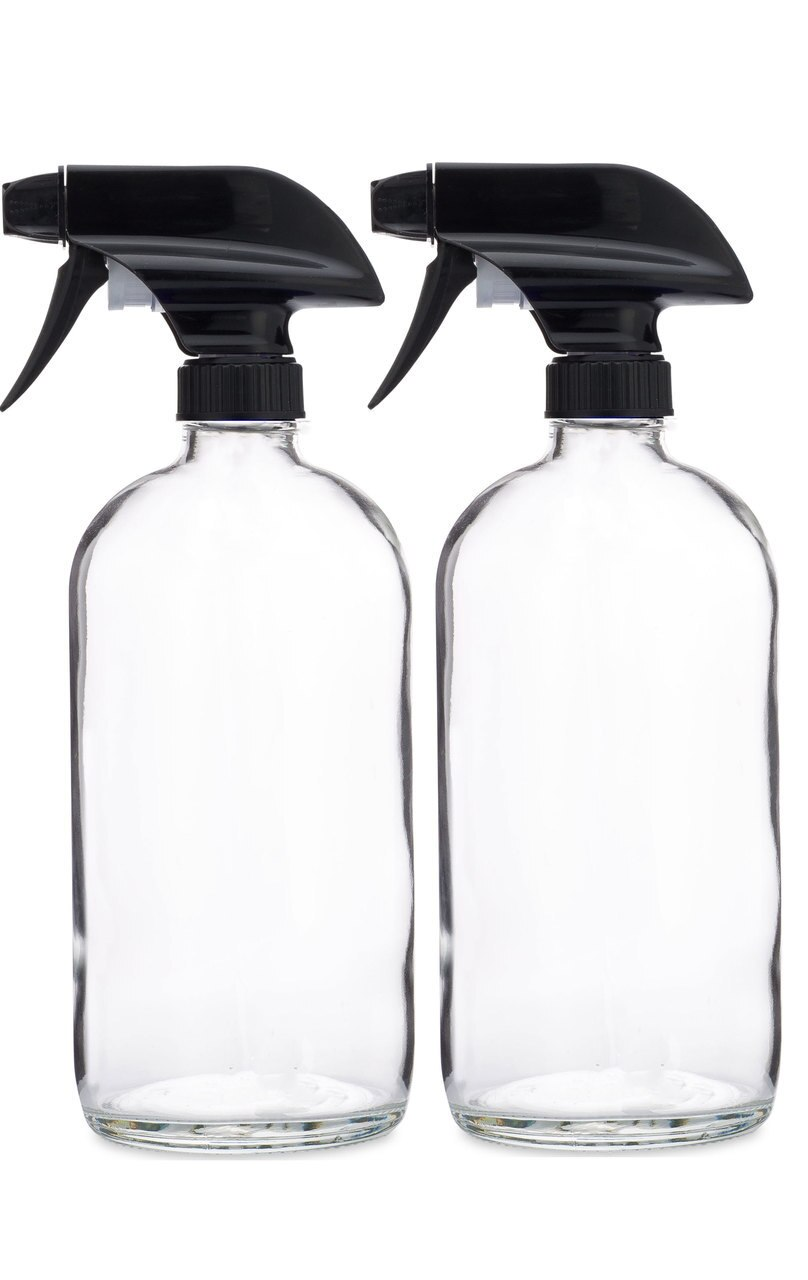 ccc6b5a37ce2 Glass Spray Bottle w/ Black Spray Nozzle - 2 Pack in 2019 | Products ...