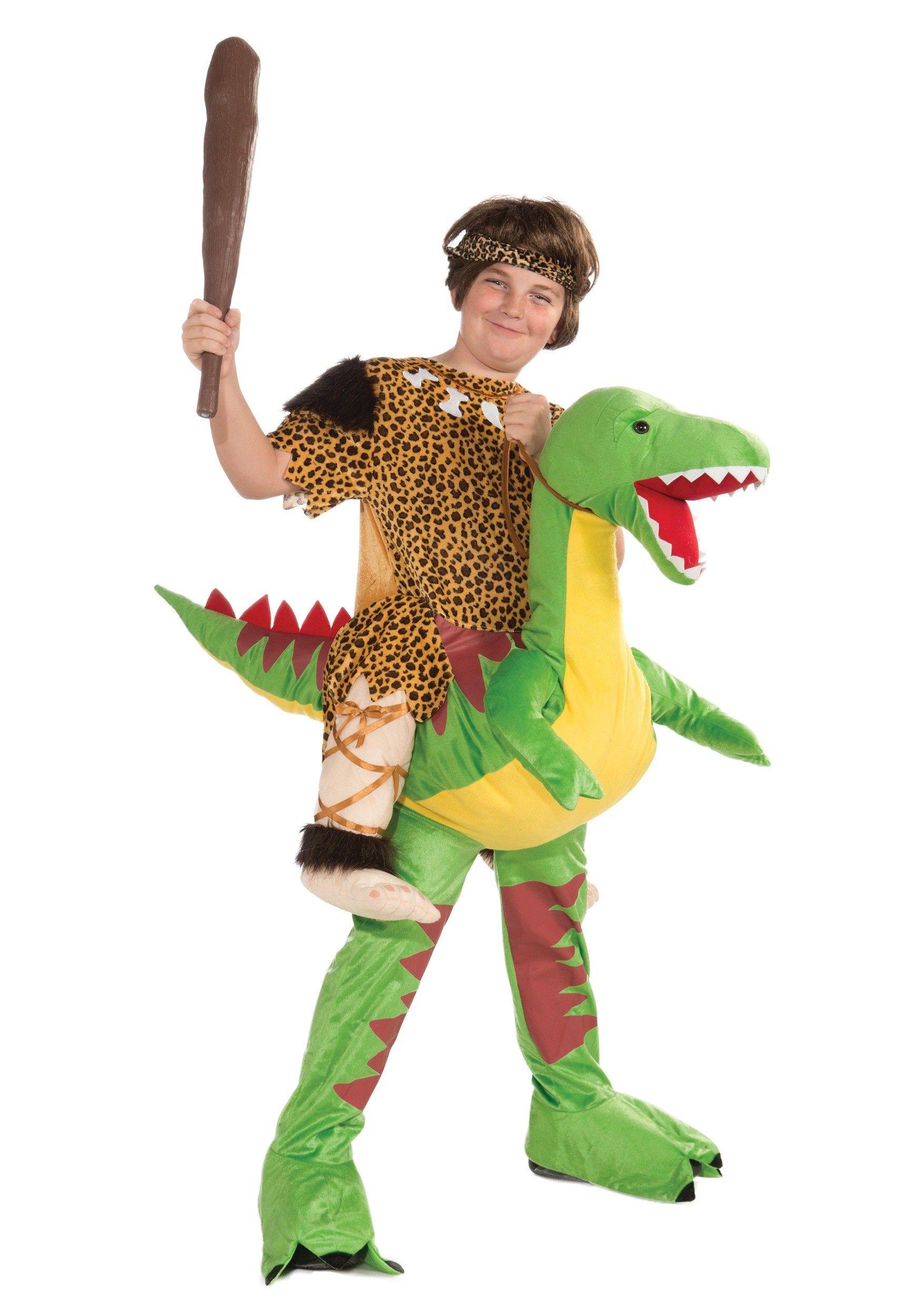 Child Ride A Dinosaur Costume Dinosaur Halloween Costume Halloween Party Outfits Boy Costumes