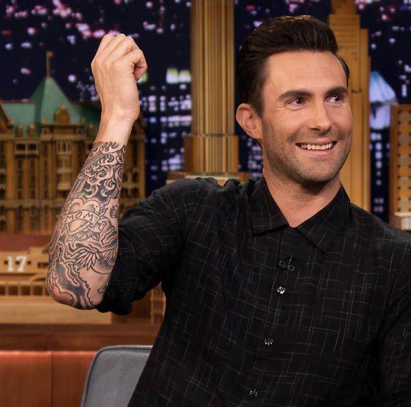 cc9e877ce Adam Levine tattoos on forearm | adam levine | Adam levine tattoos ...