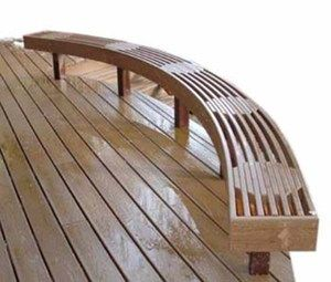 Curved Deck Patio Bench