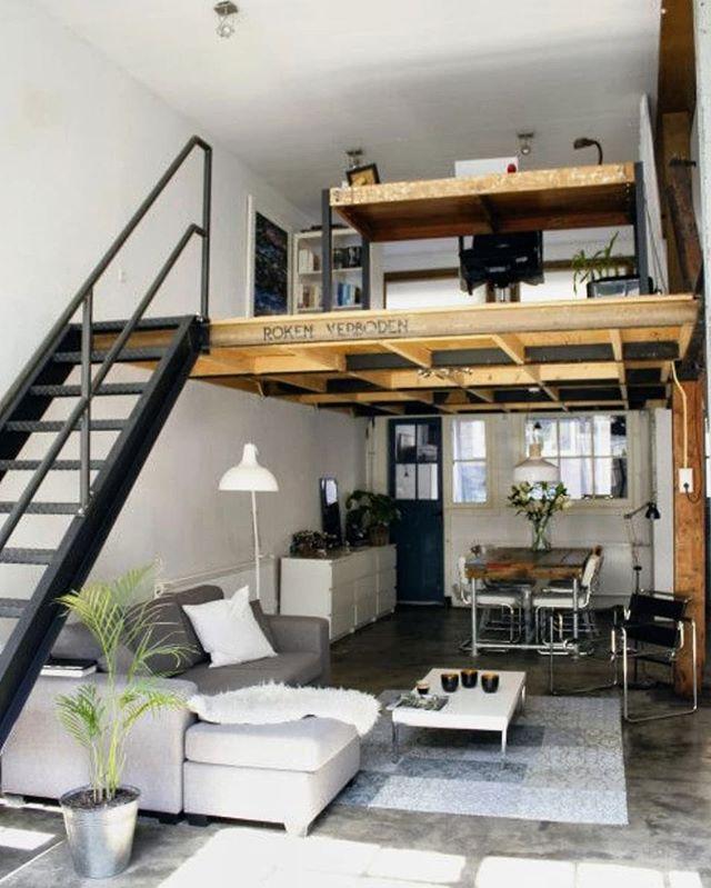 Lofts Inspiracoes Loftsinspiracoes Instagram Photos And Videos In 2020 Small Loft Apartments Tiny House Interior Design Tiny House Loft