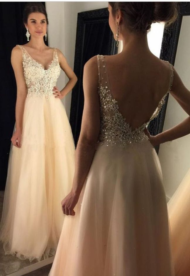 V-neck Prom Dress,Long Prom Dress,L | Formal', Long prom dresses ...