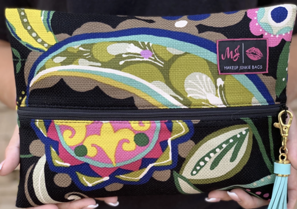 Paisley Floral Makeup Junkie Bag Lovely Mae Boutique