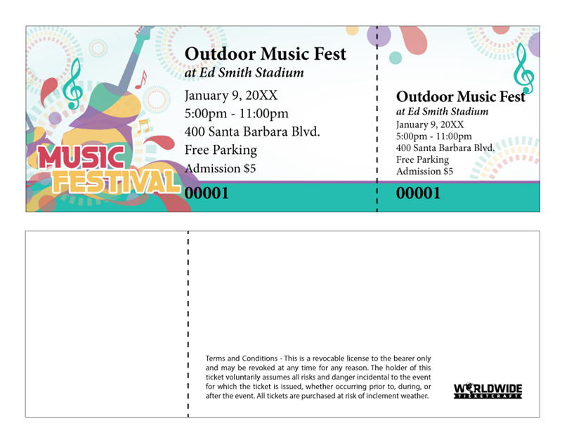 buy tickets for outdoor music festivals with professional quality designs customized with your information our online templates make it easy to do