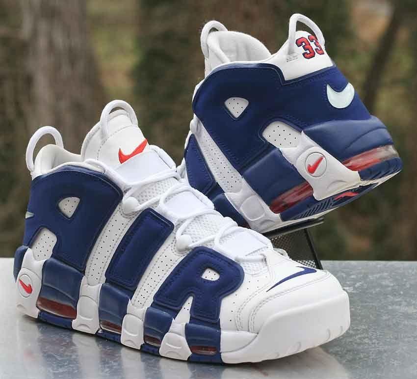 fc2d5b83f469 Nike Air More Uptempo 96 Knicks White Blue Scottie Pippen 921948-101 Size  11.5  Nike  BasketballShoes