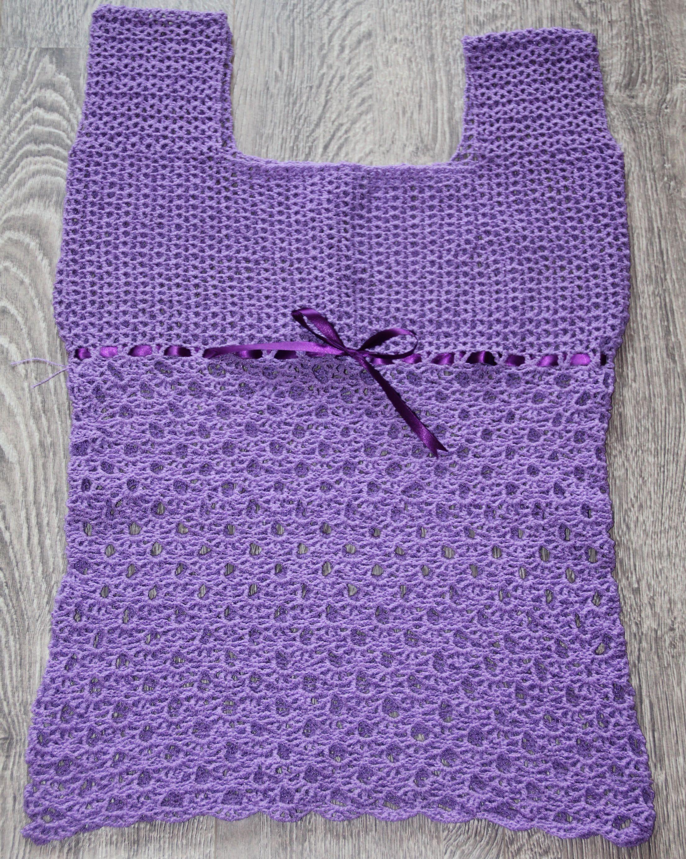Crochet -Blusa lila