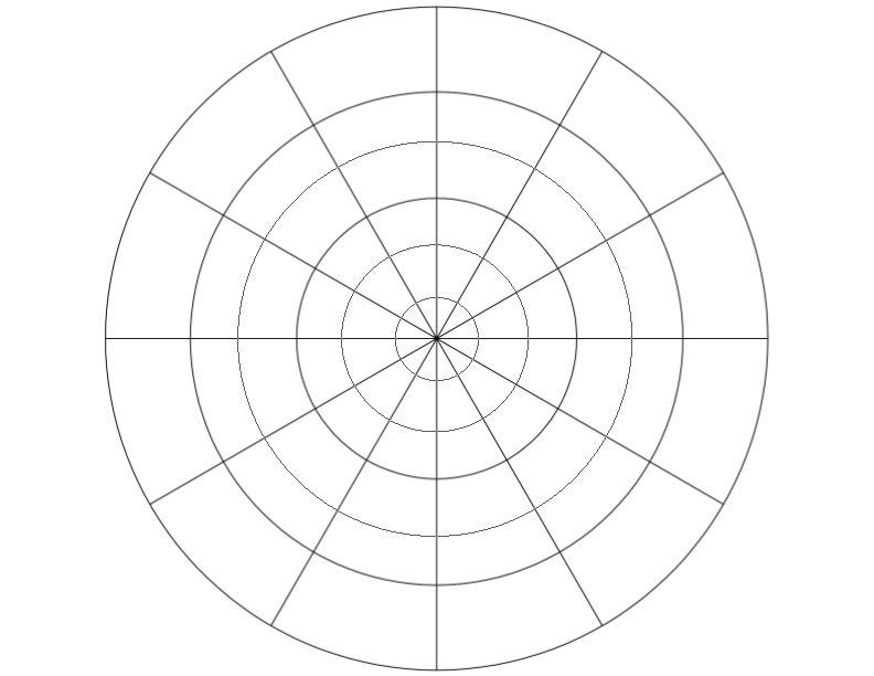 Radial Targetpie Template For Designing Mandalas Color Wheels Etc