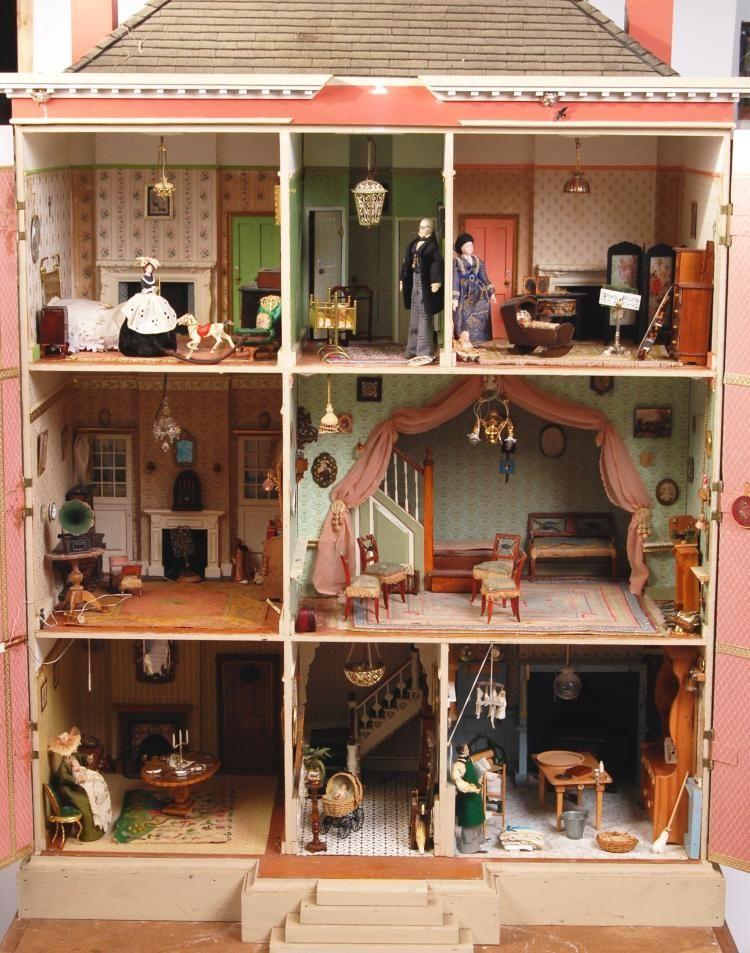 Superb SUPERB 6FT TALL REPRODUCTION GEORGIAN DOLLS HOUSE U0026 BASE Dollhouse  Interiors, Dollhouse Furniture, Miniature