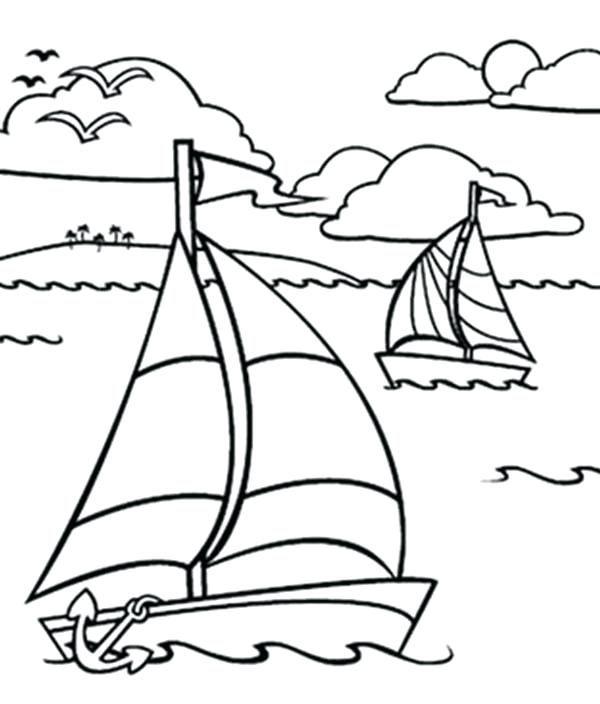 21 Printable Boat Coloring Pages Free Download Kleurplaten Boten Thema