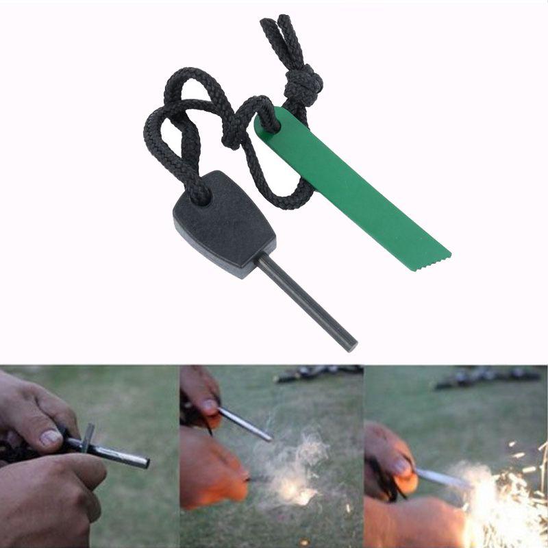 Survival Magnesium Stone Flint Fire Starter Lighter Kit