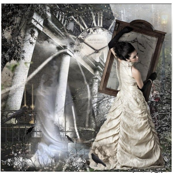 Ball Gown Mirrored Clock