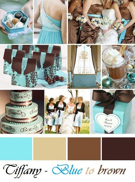 Ideas For Wedding Day Blue To Brown Tiffany Wedding