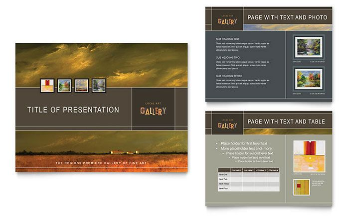 Art Gallery and Artist PowerPoint Presentation Template Design by - powerpoint brochure template