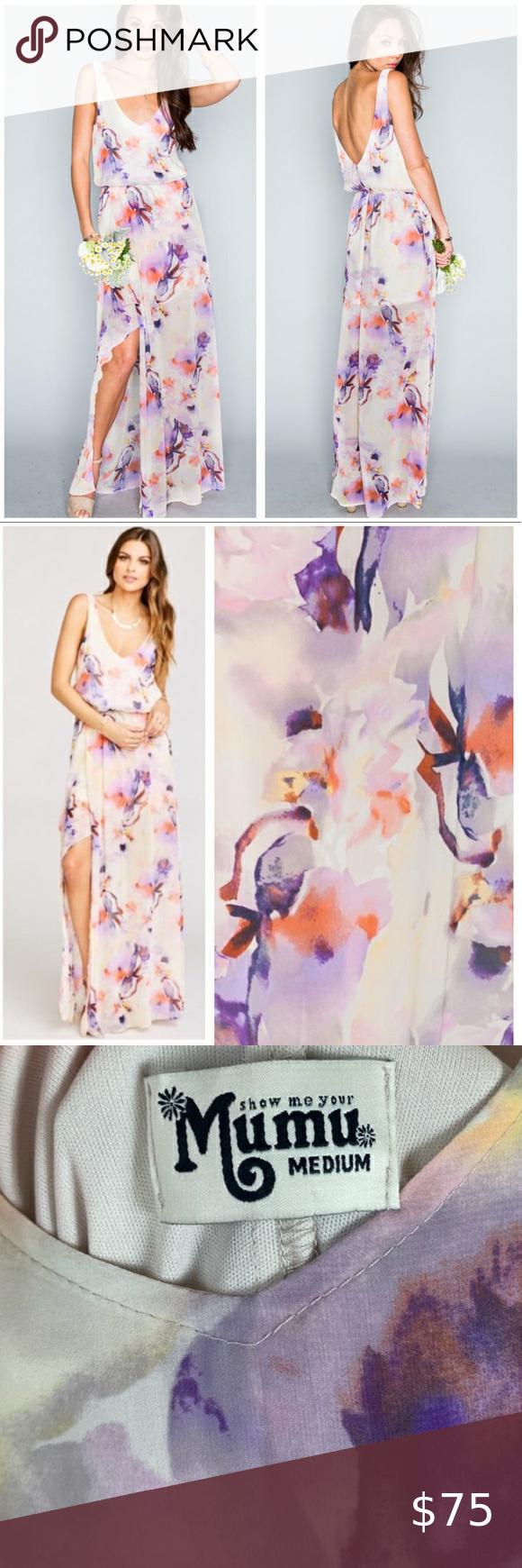 Show Me Your Mumu Watercolor Maxi Wedding M Nwt A Line Maxi Dress Maxi Dress Wedding Dresses [ 1740 x 580 Pixel ]