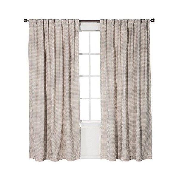Linen Weave Curtain Panel Neutral Ivory 150 Hrk Liked On