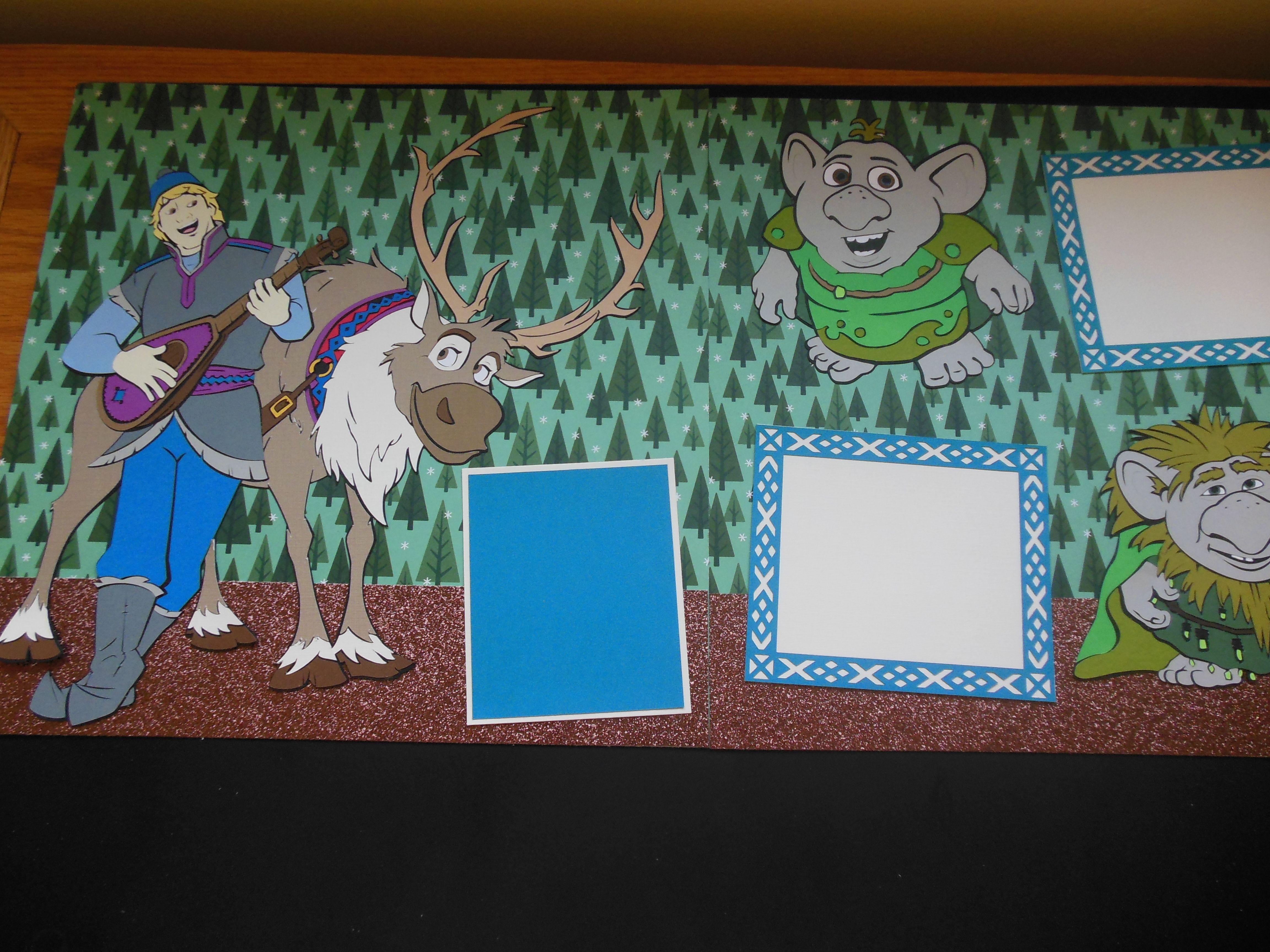 Scrapbook ideas using cricut - Kristoff Sven And Trolls Using The Cricut Frozen Cartridge For A Disneyland Album Frozen Scrapbookdisney Scrapbookscrapbook Layoutsfrozen