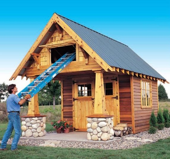 Two Level Craftsman Storage Shed The Wood Plans Shop Http Www