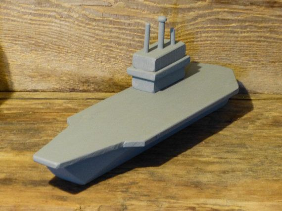 Painted Wood Toy Aircraft Carrier Wooden Toys By