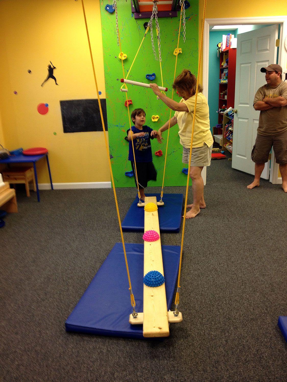 Sensory Integration Room Design: Swaying Balance Beams - Fun Factory Sensory Gym