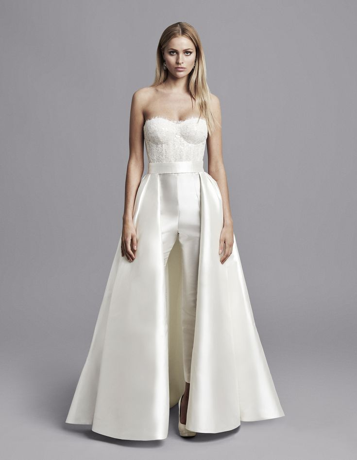 Caroline castigliano bridal fall 2020 strapless wedding