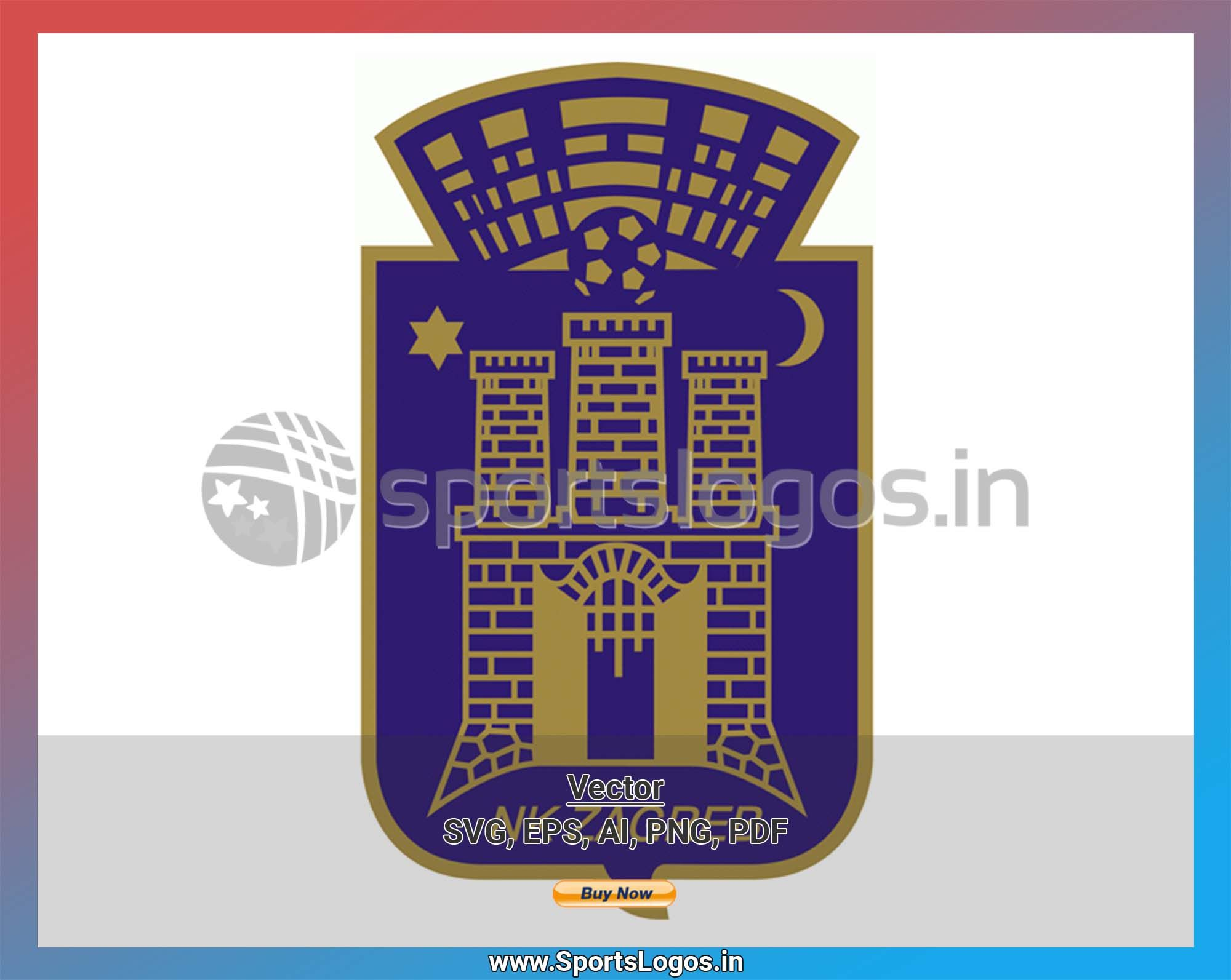 Nk Zagreb Soccer Sports Vector Svg Logo In 5 Formats Spln003047 Sports Logos Embroidery Vector For Nfl Nba Nhl Mlb Milb And More Embroidery Logo Sports Logo Sport Soccer