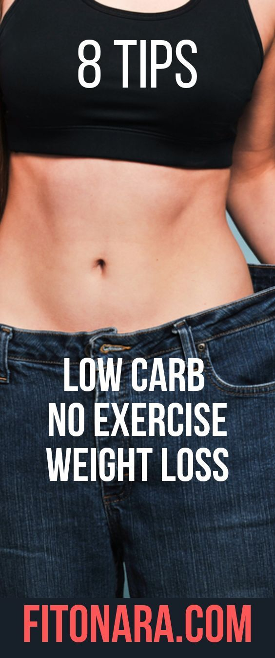 Can you lose weight on a low carb diet without exercise ...