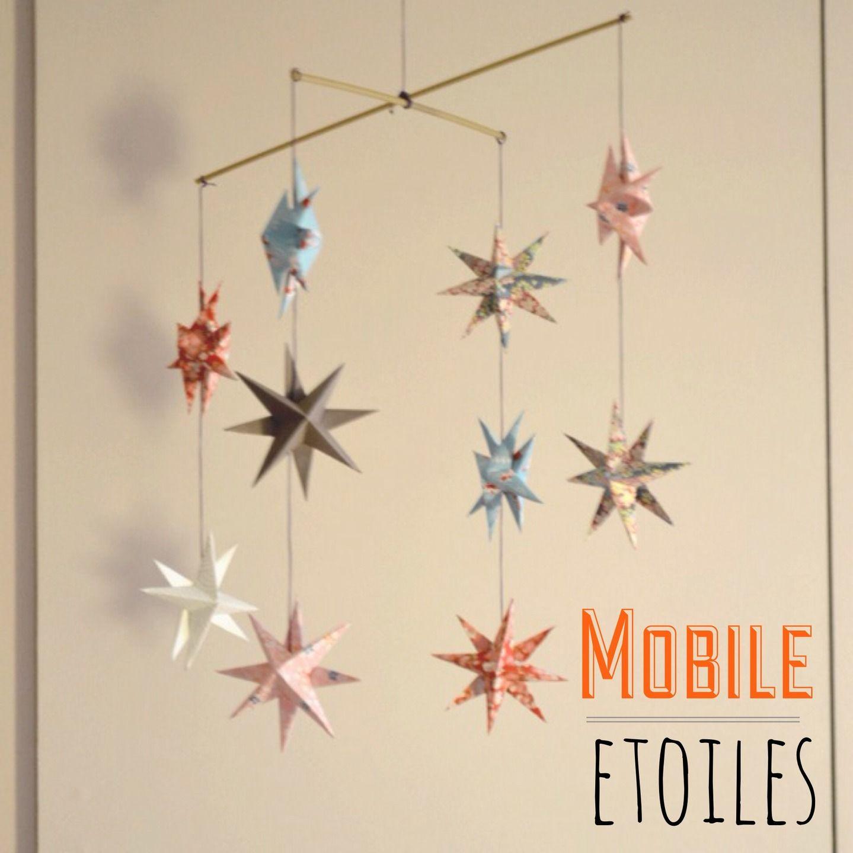 Mobile d étoiles en origami Chambre d enfant de bébé par l