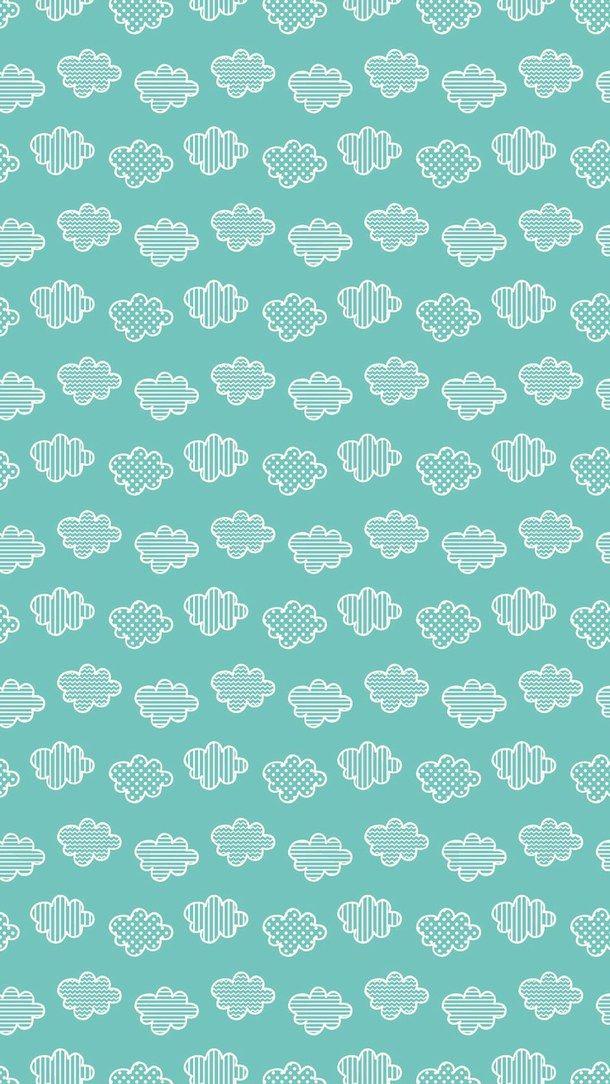 Background Clouds Cute Green Pattern Wallpaper PD Pinterest Classy Green Pattern