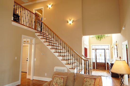 AYSCUES Trimwork Inc. Smithfield Staircase, Raleigh Custom Stairways,  Baluster, Wrought Iron,