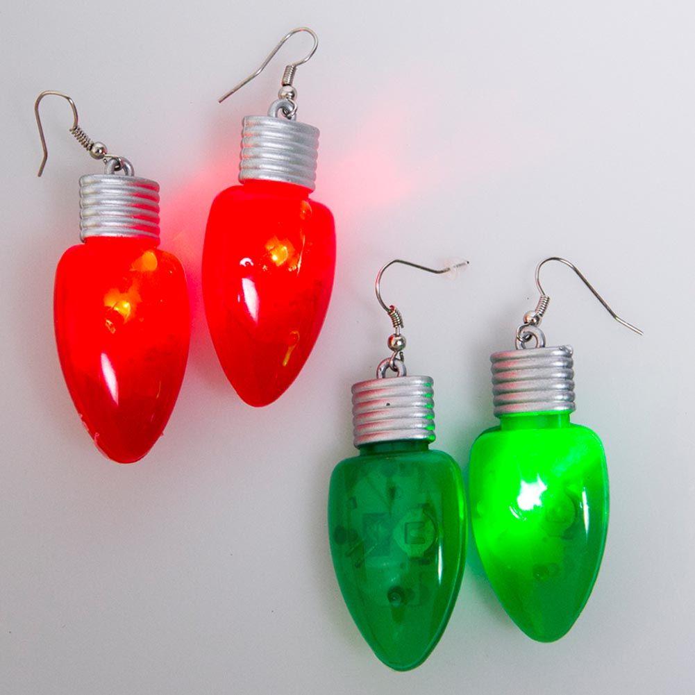 Blinking Christmas Earrings