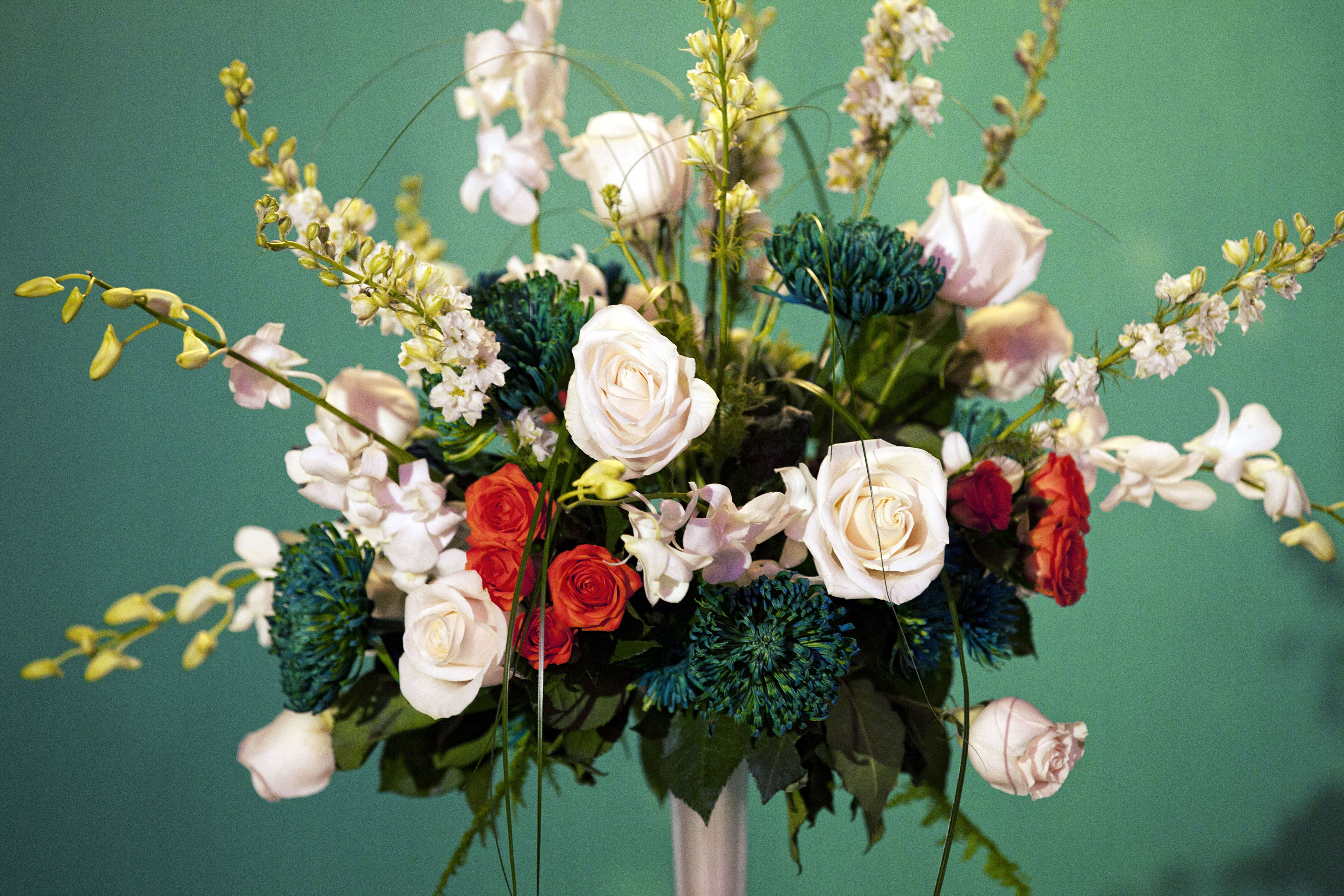 San Pan Jose Sharks Themed Wedding Flowers