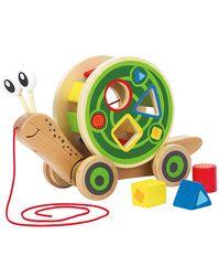 Nachzieh-Schnecke 5-teilig aus Holz | Spielzeug für ...