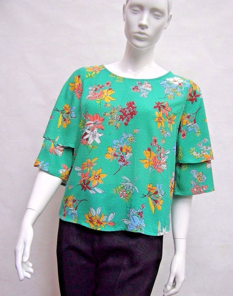 2a52b9ff92999 Green Floral Print Ruffle Blouse - Catalyst PSM