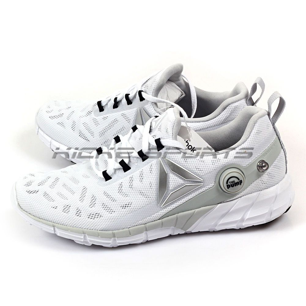 Reebok Zpump Fusion 2.5 White/Grey/Black/Silver Classic Running Shoes Ar2814