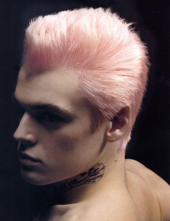 Pink And Awesome Color De Pelo Hombre Estilos De Cabello Cabello Y Belleza