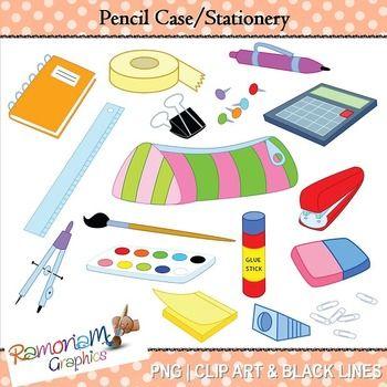 School Supplies Clip Art Pencil Case Stationery Clip Art School Supplies