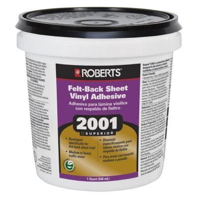 Roberts 2001 1 Qt Felt Back Sheet Vinyl Glue Adhesive Superior Grade 2001 0 Adhesive Tiles Vinyl Tile Adhesive Vinyl Tiles