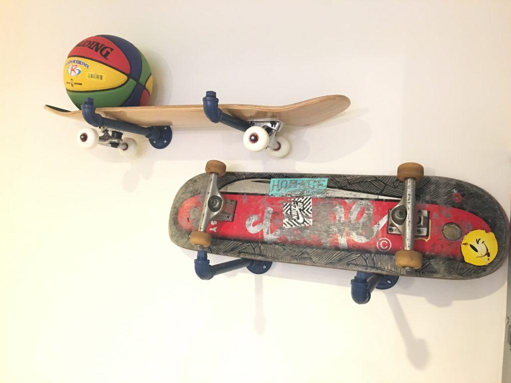 Genial Creative Skateboard Storage