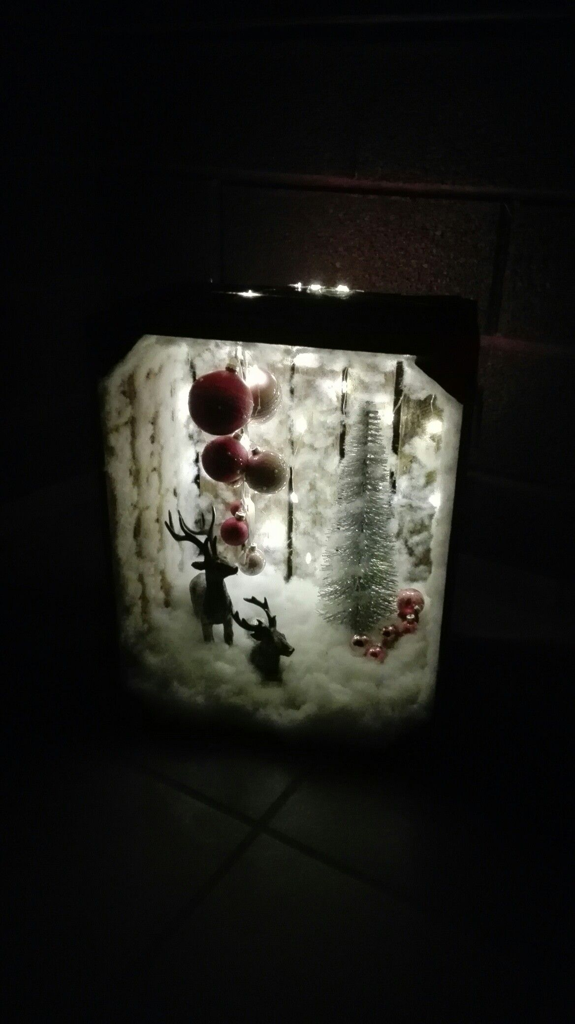 Tedi Weihnachtsdeko.Diy Weihnachtsdeko Kiste Dehner Baum Kugeln Depot Rentiere