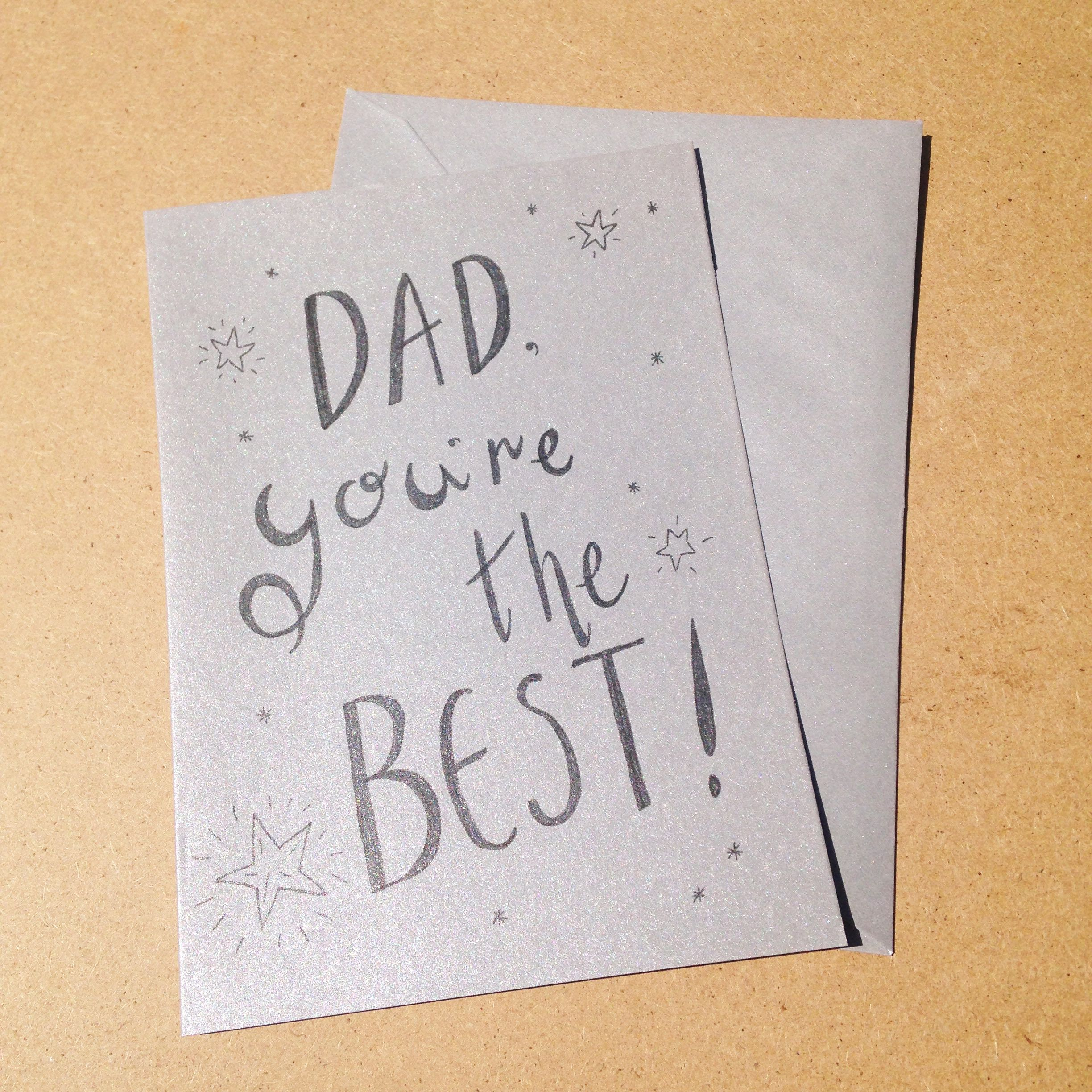 Fathers Day Card Dad Youre The Best Greeting Card Blank