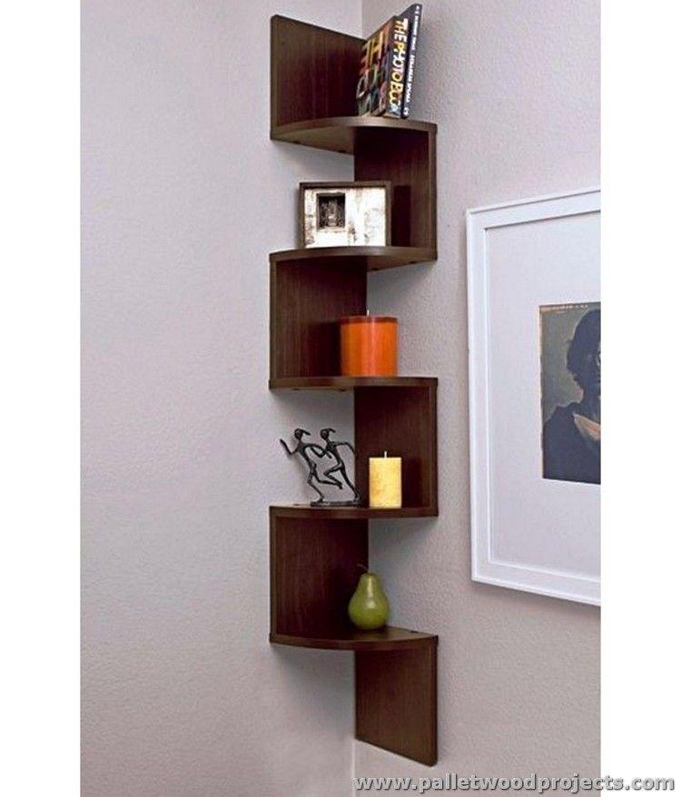 projects idea of corner wall shelving. Pallet Corner Shelf Plans  shelf Pallets and Shelves