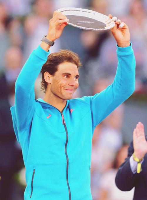 Rafael Nadal, runner-up at the Mutua Madrid Open 2015.