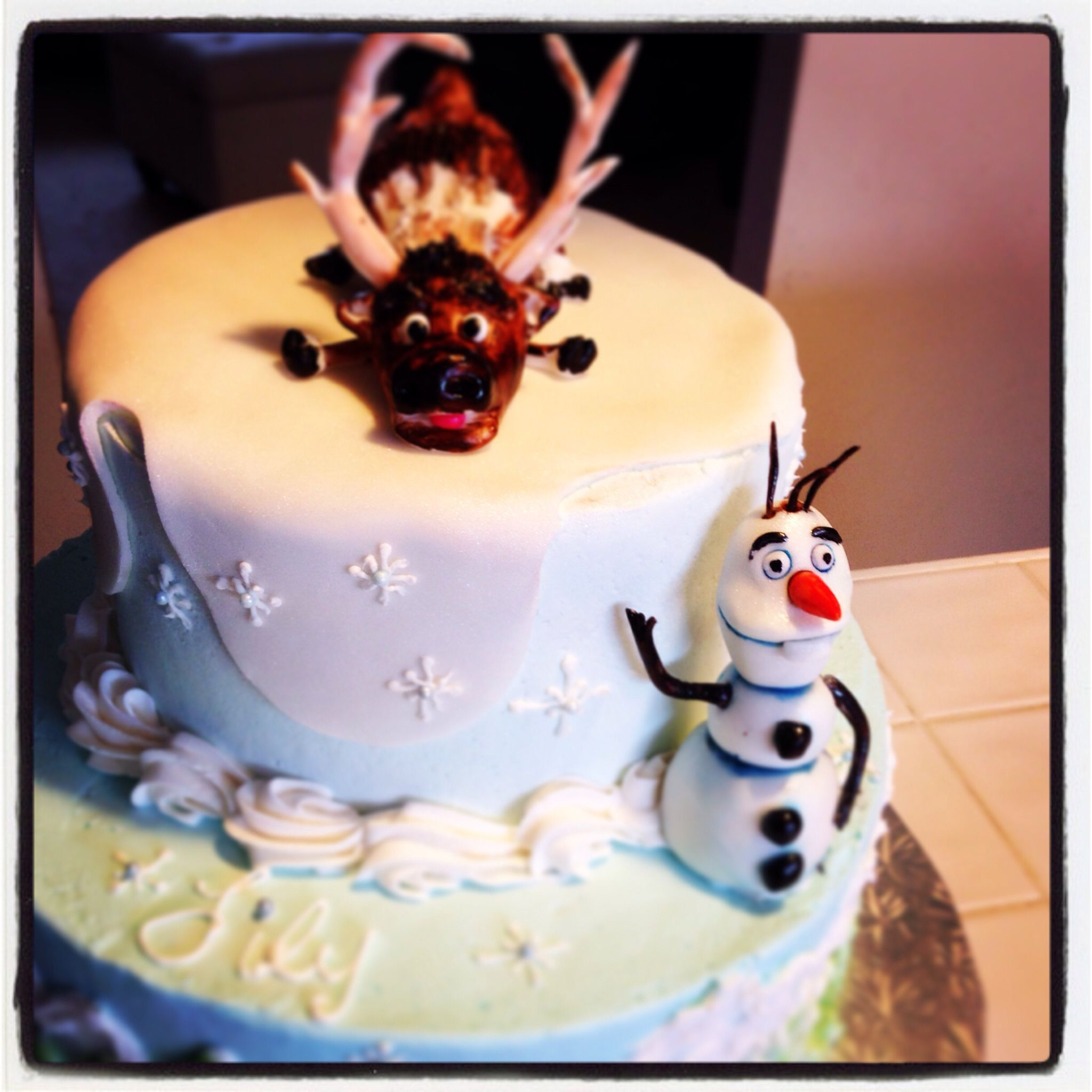 Frozen birthday cake By Carter's Creative Catering