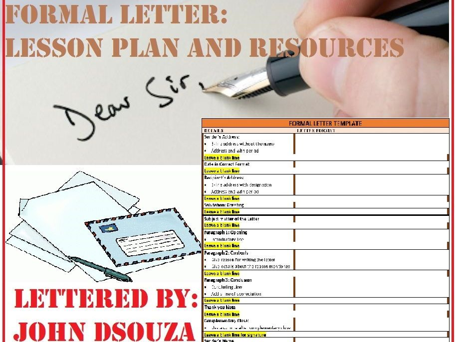 Formal letter writing lesson and resources my tes resources formal letter writing lesson plan resources spiritdancerdesigns Choice Image