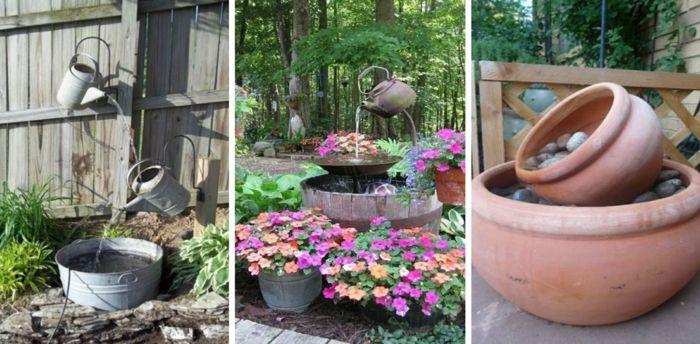 Gartendeko Ideen gartendeko ideen alte gefäße wiederverwenden blumen pflanzen